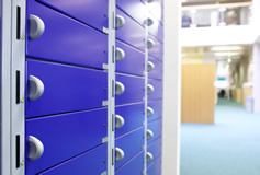 Laptop storage lockers with charging points
