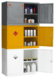 Stackable haz chem cabinets