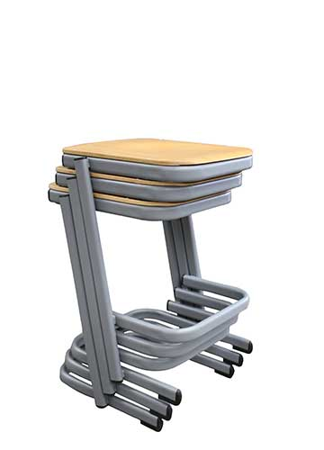 Cantilever Stool Stacked in 3