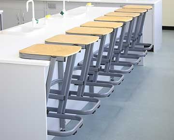 Cantilever Stools on Desk