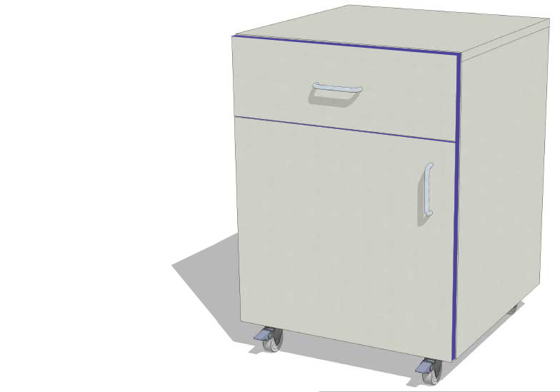 Laboratory Storage Cupboard with 1 Drawer