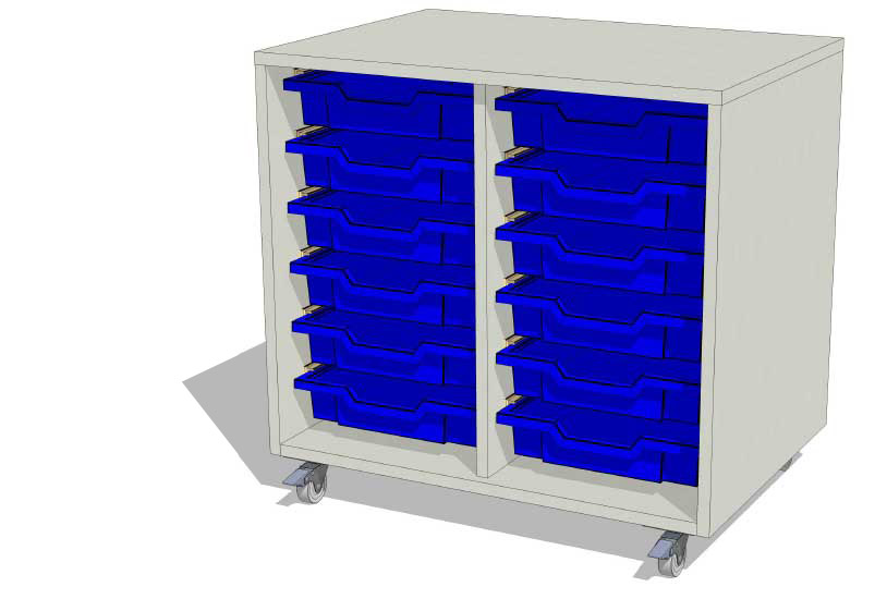 Laboratory Storage 2 Column Tray Unit
