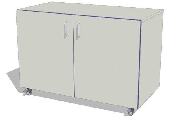 WAL 1 – C  1000mm Cupboard